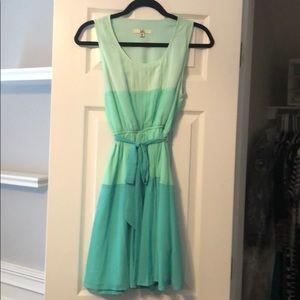 Green/blue dress